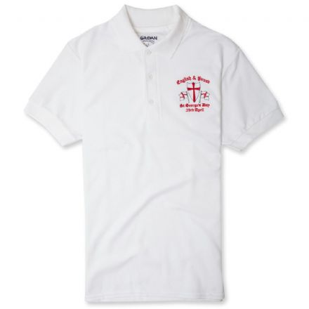 English and Proud Polo Shirt - White